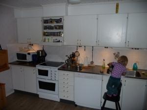 kök före skåpsvägg