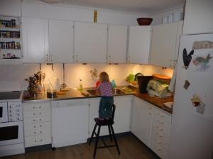 kök före ugns- och jalusihörna