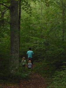 Semester familj i bokskog