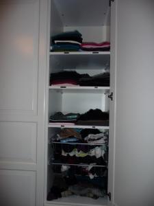 Garderob efter
