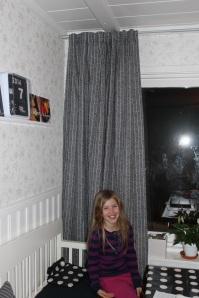 Snygga gardiner uppsättning