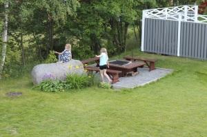 Trädgård sten