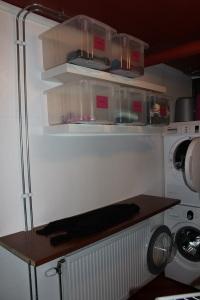 Hemmafix tvättstuga arbetsyta och sortering